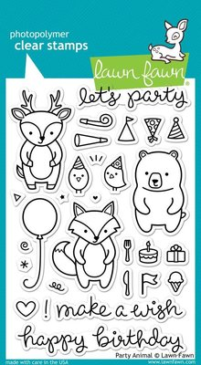 Lawn Fawn Party Animal Clear Stamps (LF893)