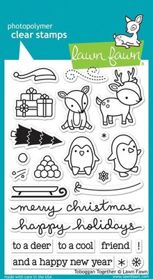 Lawn Fawn Toboggan Together Clear Stamps (LF976)