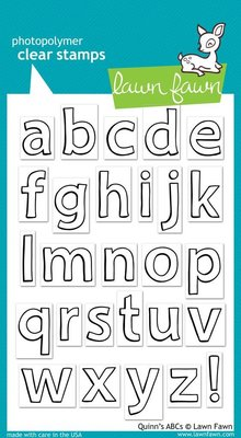 Lawn Fawn Quinn's ABCs Clear Stamps (LF353)