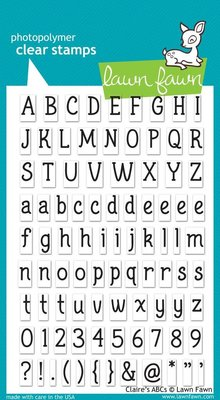 Lawn Fawn Claire's ABCs Clear Stamps (LF381)