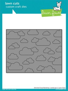 Lawn Fawn Stitched Cloud Backdrop: Landscape Dies (LF1423)
