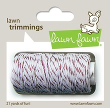 Lawn Fawn Red Sparkle Hemp Cord (LF922)