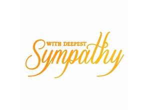 Ultimate Crafts Hot Foil Stamp With Deepest Sympathy (ULT158120)