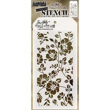 Stampers Anonimous Tim Holtz Floral Layering Stencil (THS077)