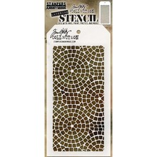 Stampers Anonimous Tim Holtz Mosaic Layering Stencil (THS084)