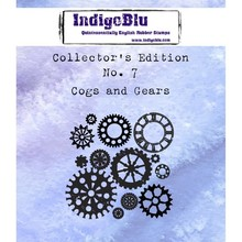IndigoBlu Collectors Edition 7 Rubber Stamp - Cogs And Gears (IND0360)