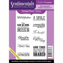 Crafter's Companion Sentimentals Verses A6 Unmounted Rubber Stamp Set (SS-VF-VERS)