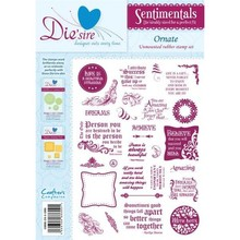 Die'sire Sentimentals Ornate A5 Unmounted Rubber Stamp Set (DS-ORN)
