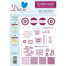 Die'sire Sentimentals Knit And Stitch A5 Unmounted Rubber Stamp Set (DS-KNIT)