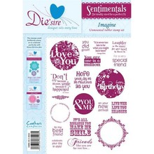 Die'sire Sentimentals Imagine A5 Unmounted Rubber Stamp Set (DS-IMAG)