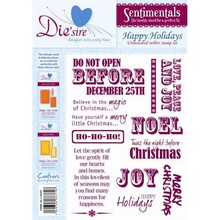 Die'sire Sentimentals Happy Holidays A5 Unmounted Rubber Stamp Set (DS-HDAY)