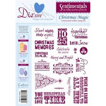Die'sire Sentimentals Christmas Magic A5 Unmounted Rubber Stamp Set (DS-MAGIC)