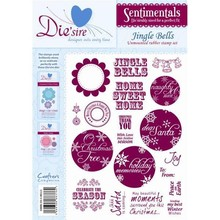 Die'sire Sentimentals Jingle Bells A5 Unmounted Rubber Stamp Set (DS-BELLS)
