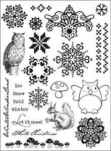 Marianne Design Clear Stamps Let It Snow (24 Stuks)