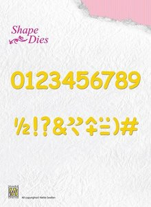 Nellie Snellen Shape Die Numbers And Punctuation Marks (SD038)