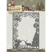 Yvonne Creations Celebrating Christmas Scene Rectangle Frame Cutting Die (YCD10114)