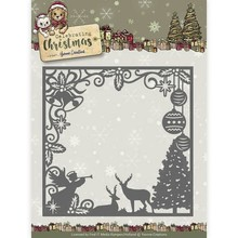 Yvonne Creations Celebrating Christmas Scene Square Frame Cutting Die (YCD10115)