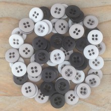 Dovecraft Plastic Buttons - Granite
