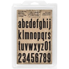 Idea-ology Block Lowercase Alpha 2,54 / 3,81 Cling Foam Stamps (TH93578)