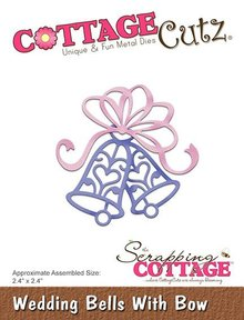 Scrapping Cottage CottageCutz Wedding Bells With Bow (CC-327)