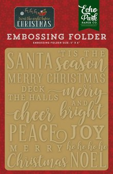 Echo Park 'Twas The Night Before Christmas Merry & Bright 12,7x14,9 cm Embossing Folder (TNC134031)