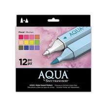 Spectrum Noir Aqua Markers Floral 12 Colors (SPECN-AQ12-FLO)