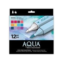 Spectrum Noir Aqua Markers Primary 12 Colors (SPECN-AQ12-PRI)