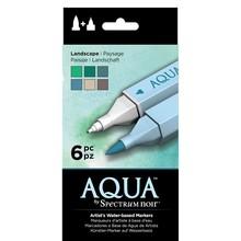 Spectrum Noir Aqua Markers Landscape 6 Colors (SPECN-AQ6-LAN)
