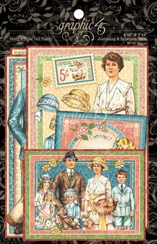 Graphic 45 Penny's Paper Doll Family Journaling & Ephemera Cards (4501593)