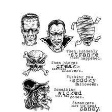 Stampers Anonimous Cling Stamps Monstrous (CMS307)