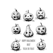 Stampers Anonimous Cling Stamps Pumkinhead (CMS309)