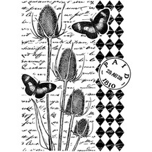 Crafty Individuals Unmounted Rubber Stamp Tempting Teasels (CI-472)