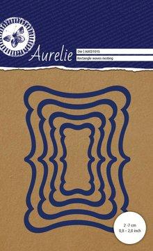 Aurelie Rectangle Waves Nesting Snij- & Embossingsmal (AUCD1015)