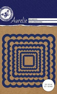 Aurelie Square Scalloped Nesting Snij- & Embossingsmal (AUCD1010)