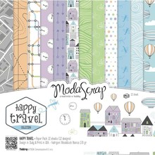 ModaScrap Happy Travel 12x12 Inch Paper Pack (HTPP30)