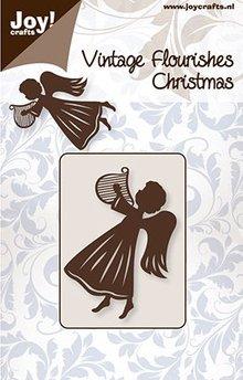 Joy!Crafts Cutting Stencil Engel Met Harp (6003/0043)