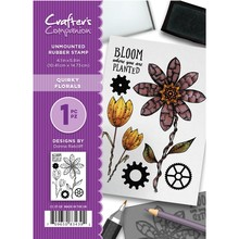 Crafter's Companion Quirky Florals Unmounted Rubber Stamp Set (CC-ST-QF)