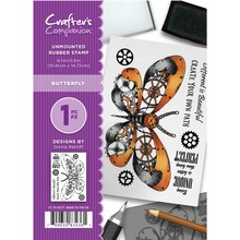 Crafter's Companion Butterfly Unmounted Rubber Stamp Set (CC-ST-BUTT)
