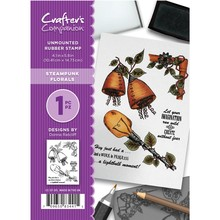 Crafter's Companion Steampunk Florals Unmounted Rubber Stamp Set (CC-ST-SFL)