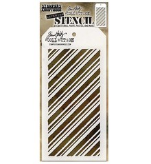 Stampers Anonimous Tim Holtz Peppermint Layering Stencil (THS095)
