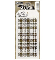 Stampers Anonimous Tim Holtz Plaid Layering Stencil (THS097)