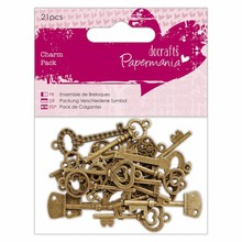 Papermania Charm Pack Vintage Keys (21pcs) (PMA 356015)