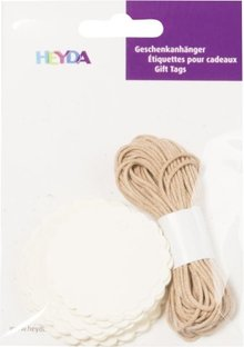 Heyda Gift Tags Rond Crème (204870731)