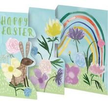 Roger La Borde Trifold Triptych Card Easter Bunny (GCN 236E)