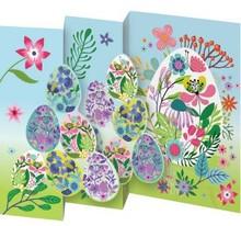 Roger La Borde Trifold Triptych Card Easter Eggs (GCN 234E)