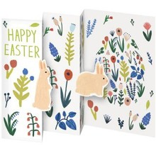 Roger La Borde Trifold Triptych Card Happy Easter (GCN 143)