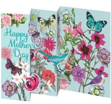 Roger La Borde Trifold Triptych Card Bohemian Happy Mother's Day (GCN 146M)