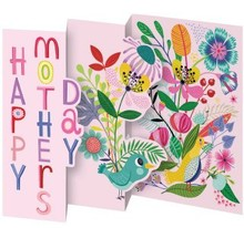 Roger La Borde Trifold Triptych Card Enchanted Happy Mother's Day (GCN 148M)