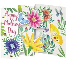 Roger La Borde Trifold Triptych Card Spring Happy Mother's Day (GCN 149M)