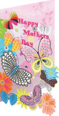 Roger La Borde Butterfly Sky Mother's Day Lasercut Card (SC 607M)